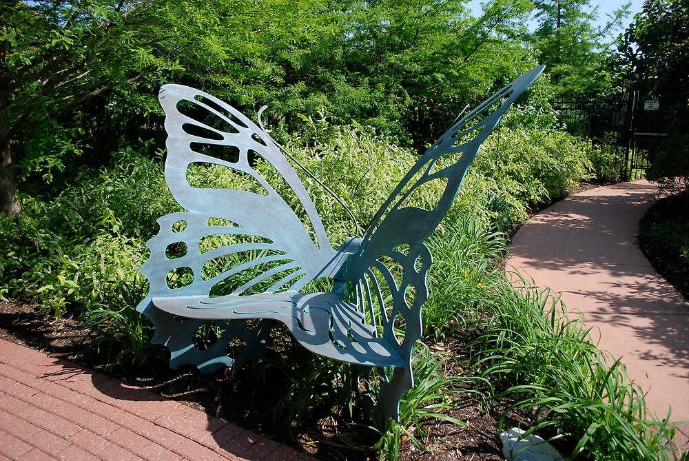 Butterfly bench by Jim Caldwell