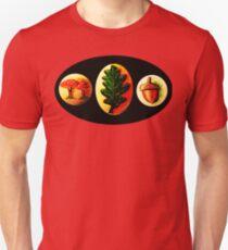 Mushrooms, Oak Leaf, Acorn Unisex T-Shirt