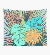 Tela decorativa Tropical Leaves blue