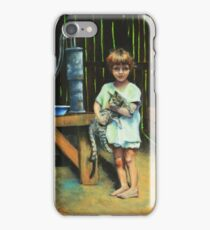Girl and Kitty iPhone Case/Skin