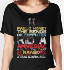 Radiohead Discography Women's Relaxed Fit T-Shirt