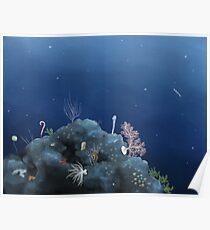 Deep ocean vista - Johnston Atoll Poster