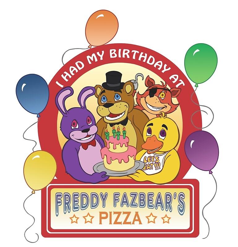 """Freddy Fazbear's Birthday! "" Posters by oriana132   Redbubble"