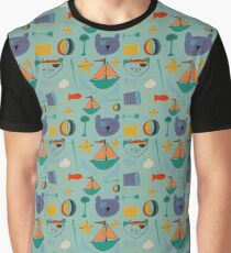 Cat and bear pirate blue Graphic T-Shirt