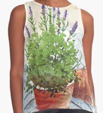 Lavender in a pot Contrast Tank