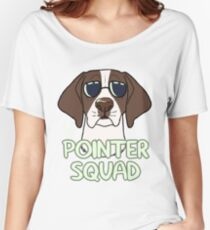 POINTER SQUAD (liver and white) Women's Relaxed Fit T-Shirt