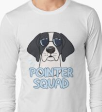 POINTER SQUAD (black and white) Long Sleeve T-Shirt