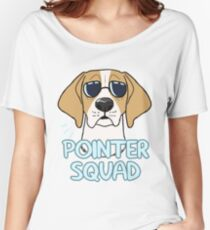 POINTER SQUAD (orange and white) Women's Relaxed Fit T-Shirt