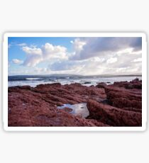 Red Rocks of Bar Beach  Sticker