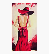 The Lady in red Photographic Print