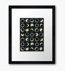 solar eclipse mandala Framed Print