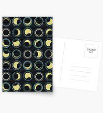 Sonnenfinsternis-Mandala Postkarten