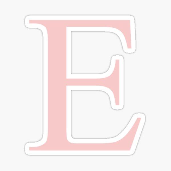 Epsilon- Millennial Pink Greek Letter Sticker