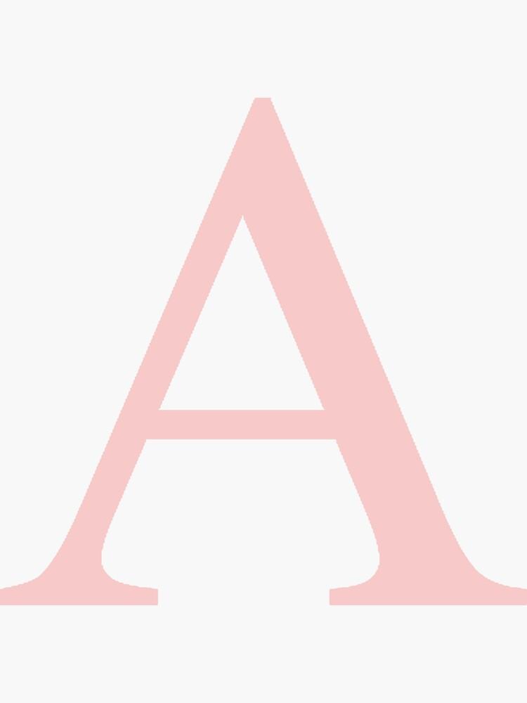 Alpha- millennial pink greek letter by hopefuldesigns