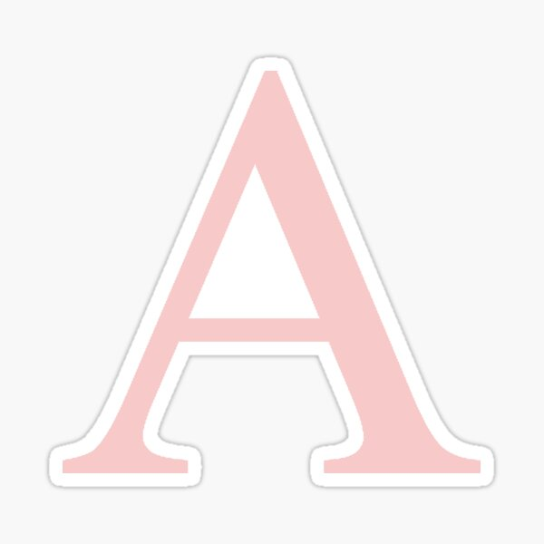 Alpha- millennial pink greek letter Sticker