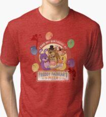 Freddy Fazbear's Birthday! (survivor version) Tri-blend T-Shirt