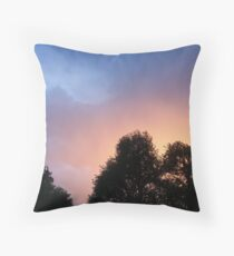 Lewiston at Sunset Throw Pillow