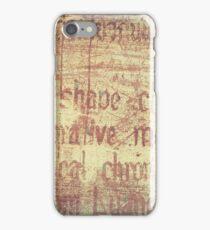 Vintage Weathered Texture iPhone Case/Skin