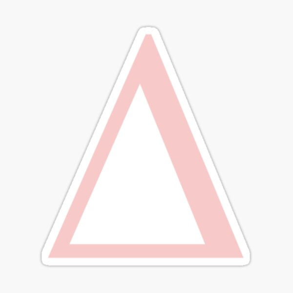 delta- millennial pink greek letter Sticker