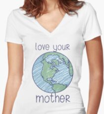 love your mother Women's Fitted V-Neck T-Shirt