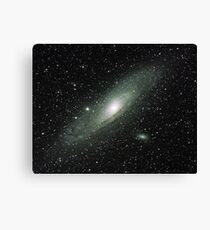 The Andromeda Galaxy, one of the jewels of the autumn sky. Canvas Print