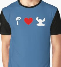 I Heart Stitch (Classic Logo) (Inverted) Graphic T-Shirt