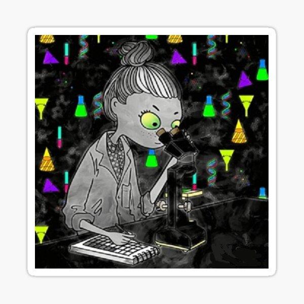 scientist in the dark Sticker