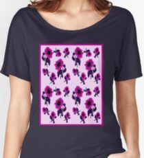 SUNFLOWER ABSTRACT : Abstract Colorful Print Women's Relaxed Fit T-Shirt