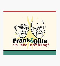 Frank and Ollie Photographic Print