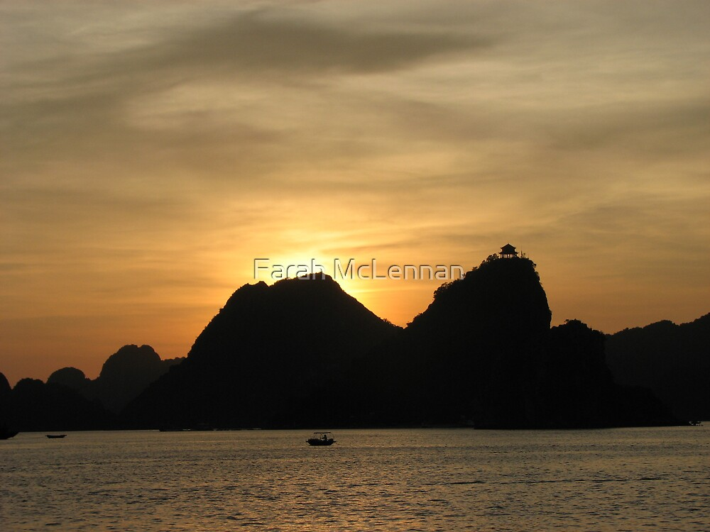 Sailing to sunset  by Farah McLennan