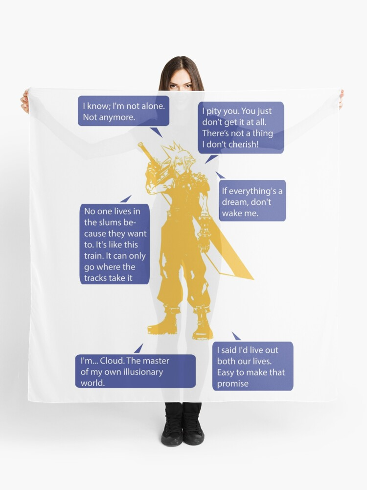 Cloud Strife Final Fantasy VII Quotes   Scarf