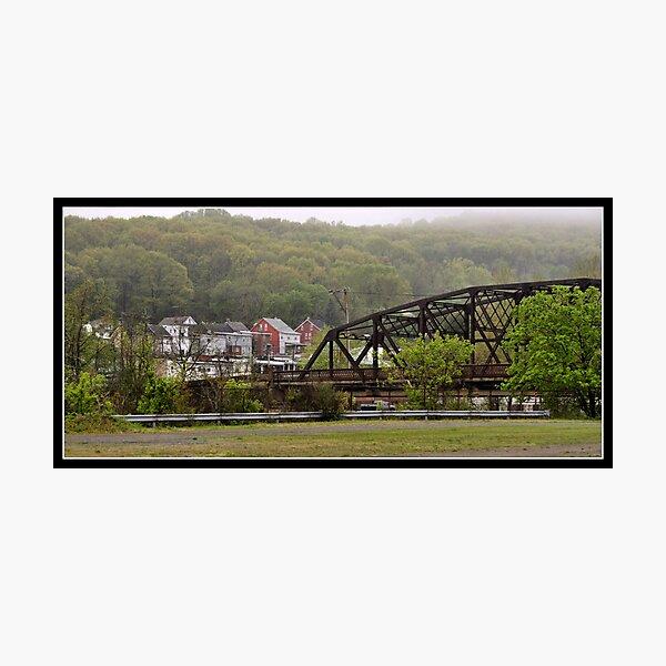 Fog Lifting Over Easton, PA Photographic Print