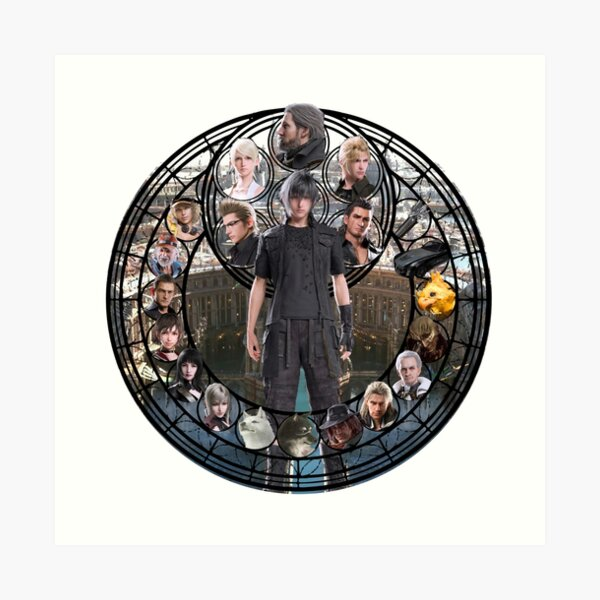 Final Fantasy XV Stained Glass Art Print