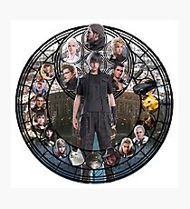 Final Fantasy XV Stained Glass Photographic Print