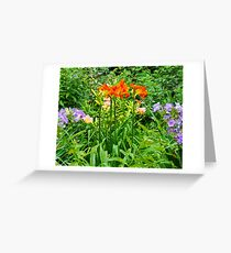 tall and proud lilies Greeting Card