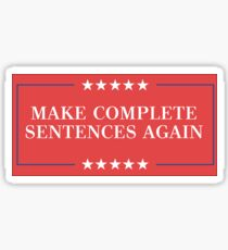 complete sentences Sticker