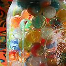 Marbles in a Jar 2 Painterly by marybedy