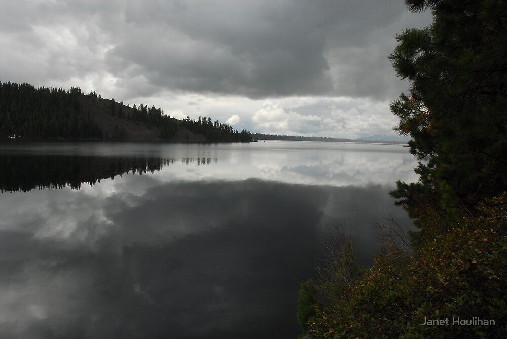 Reflected Storm Clouds over Payette Lake by Janet Houlihan
