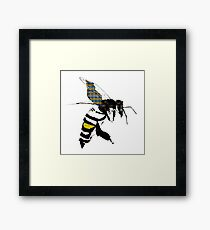 Save the bees Framed Print