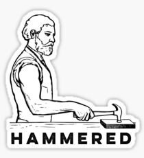 Hammered Sticker