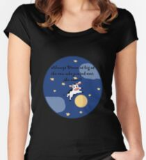 Always Dream As Big As The Cow Who Jumped Over The Moon Women's Fitted Scoop T-Shirt