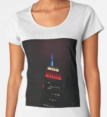 Red, White & Blue Empire State Building Women's Premium T-Shirt