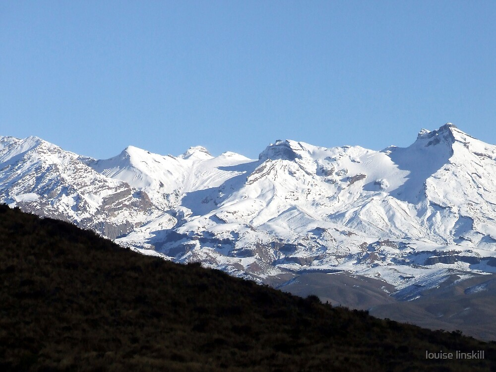 Ruapehu in shade by louise linskill