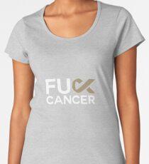 Fuck Cancer Art Design Women's Premium T-Shirt
