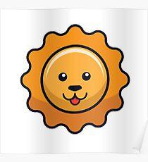 Sunflower Lion Poster