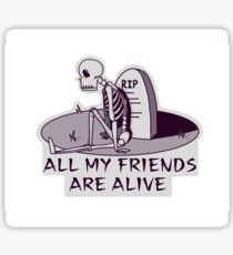 Lonely Skelly Sticker