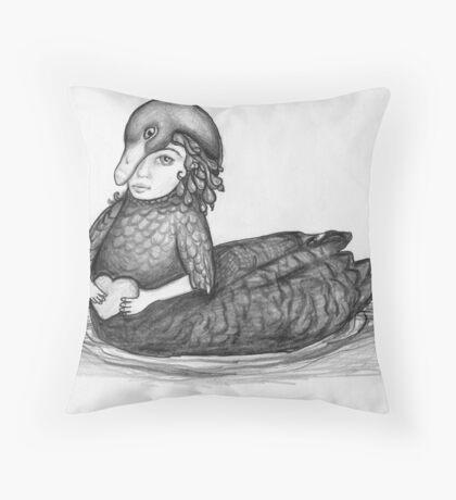 The Wild Swan Girl Throw Pillow