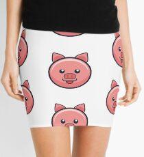 Shiny Pink Pig Mini Skirt