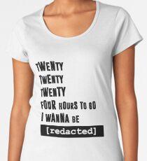 i wanna be [redacted] Women's Premium T-Shirt