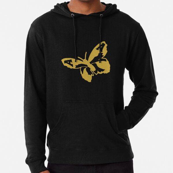 The Avalanches Wildflower Golden Butterfly Lightweight Hoodie